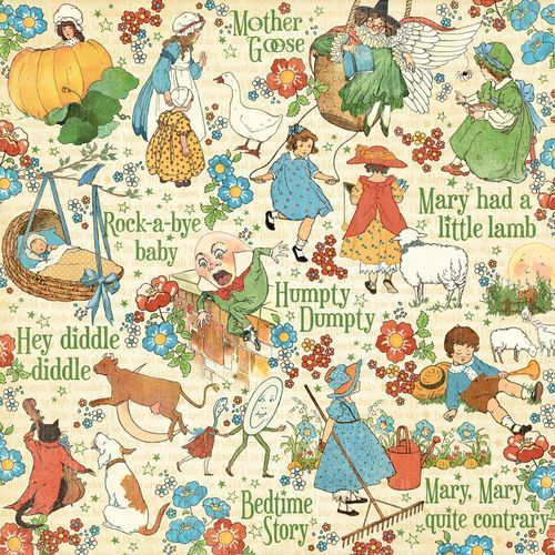 "The front of ""Nursery Rhymes"" from Mother Goose, a new paper collections from Graphic 45! #graphic45 #summerrelease"