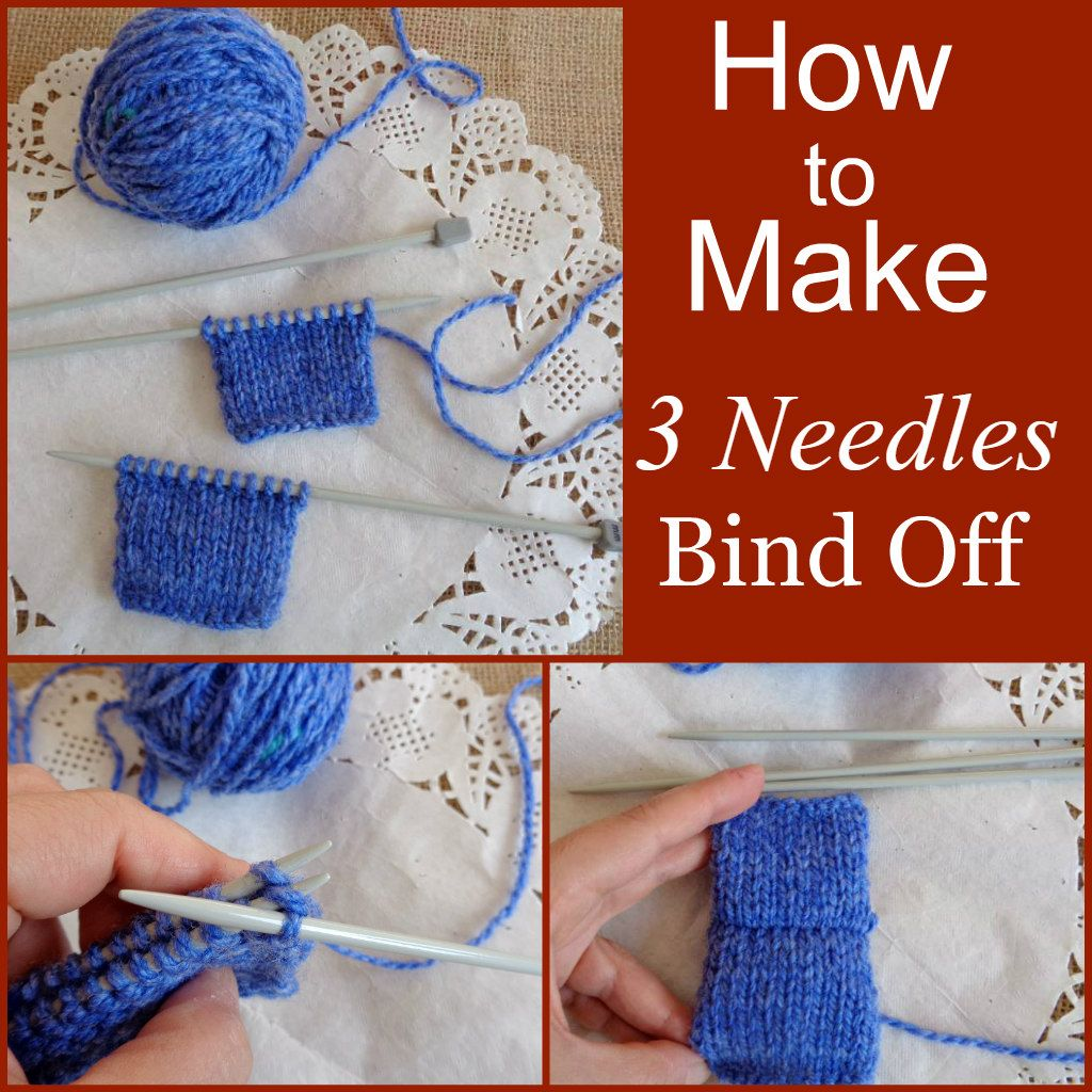 How To Make 3 Needles Bind Off