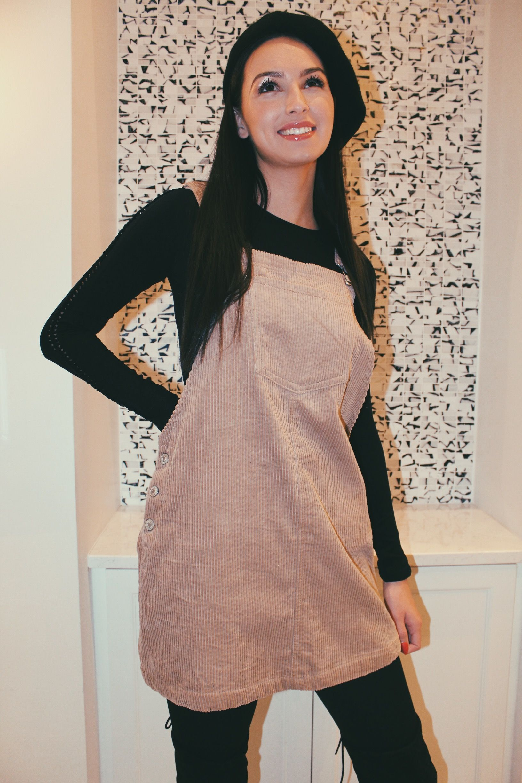 Park Art|My WordPress Blog_Corduroy Overall Dress Knee Length