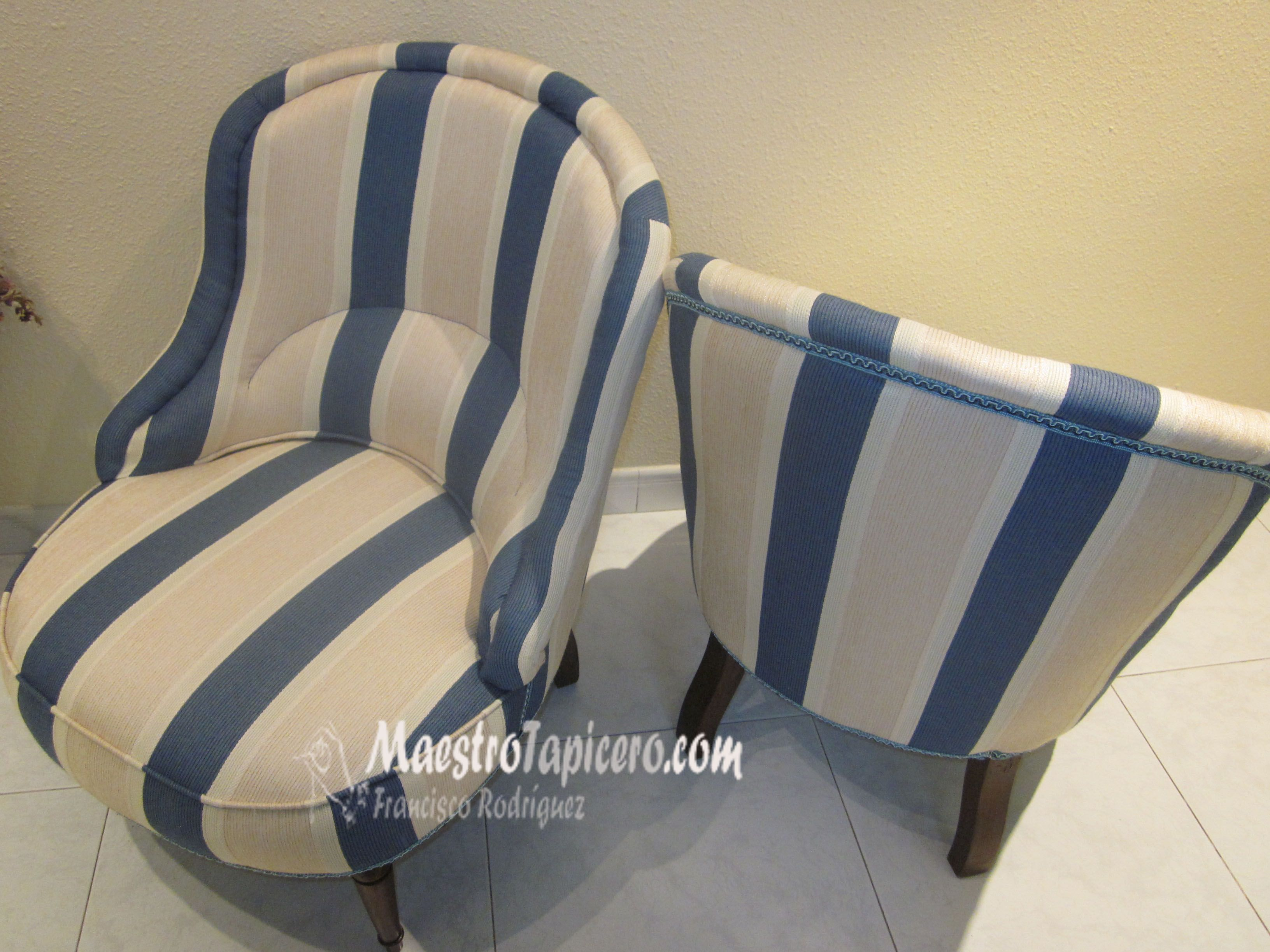 Butaca descalzadora tapizada a rayas 3264 2448 cosas de marisol pinterest cosas - Como tapizar una descalzadora ...