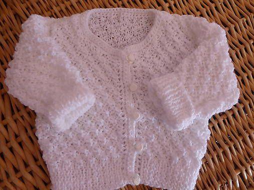 5358aef8d detský pletený svetrík pre novorodenca, je vyrobený z detskej akrylovej  priadze, odporúčam ručné pranie
