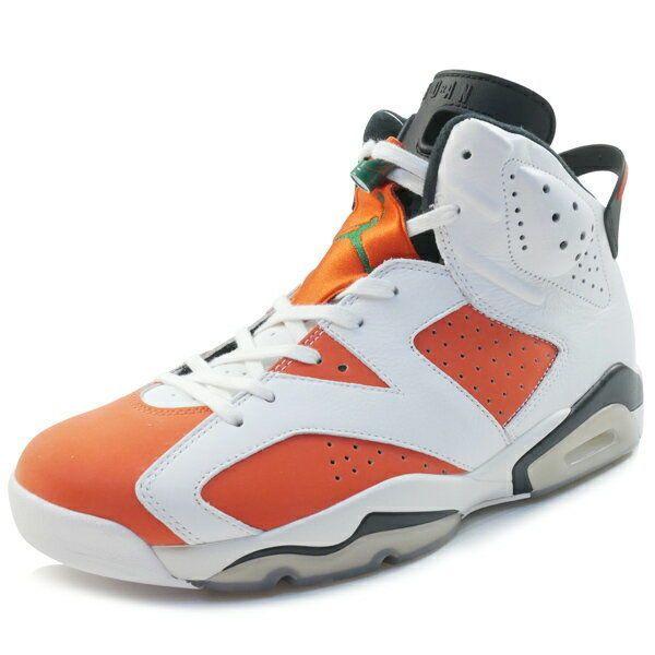 cheaper b865a c2e66 NIKE AIR JORDAN 6 RETRO GATORADE 384664-145 sneaker WHITE US 10.5  fashion