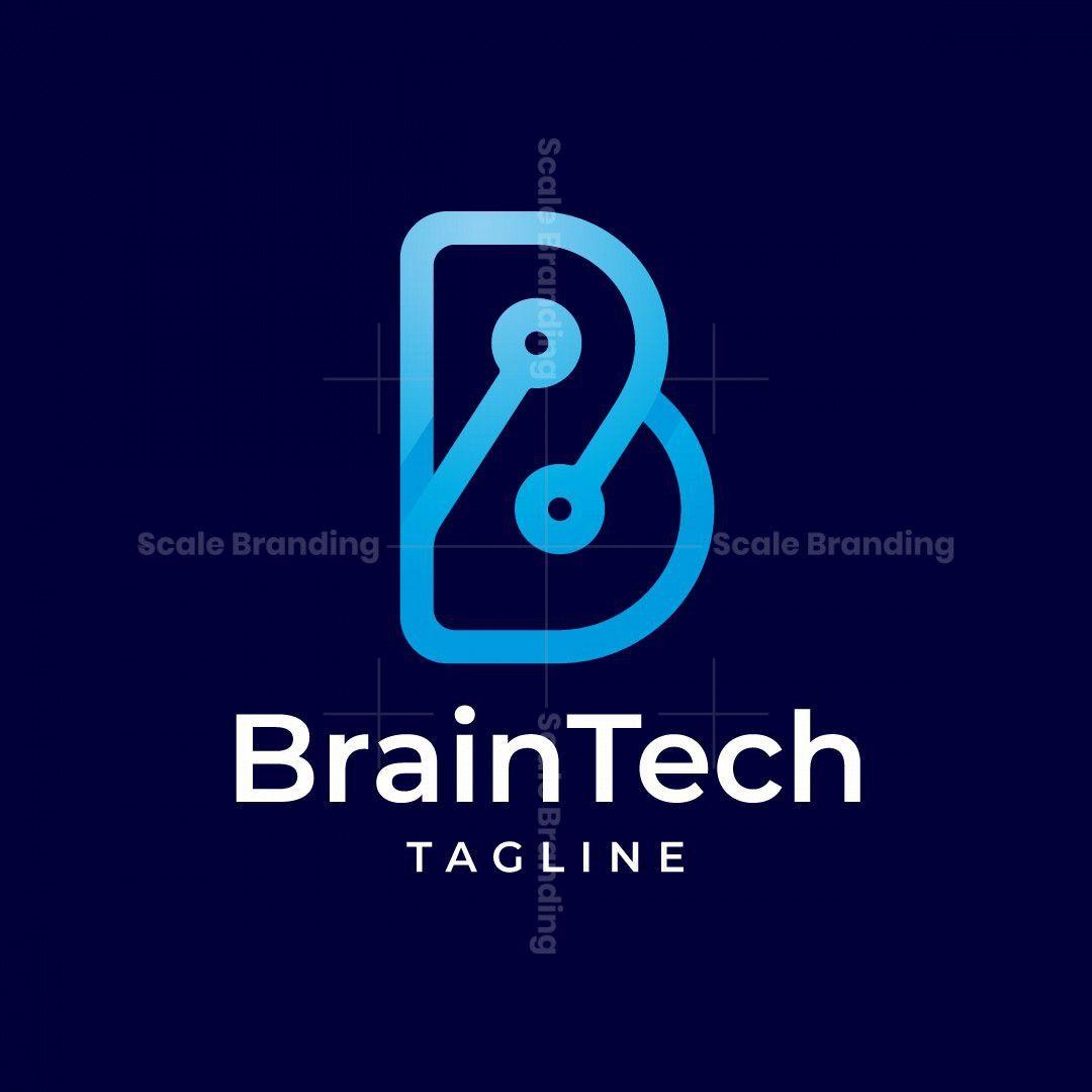 Brain Tech B Letter Logo Logo Software Electronics Logo Design Logo Design Inspiration Branding