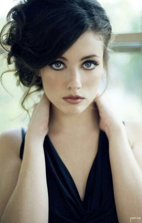 Black Haired Woman With Blue Eyes Hair Inspiration Hair Beauty