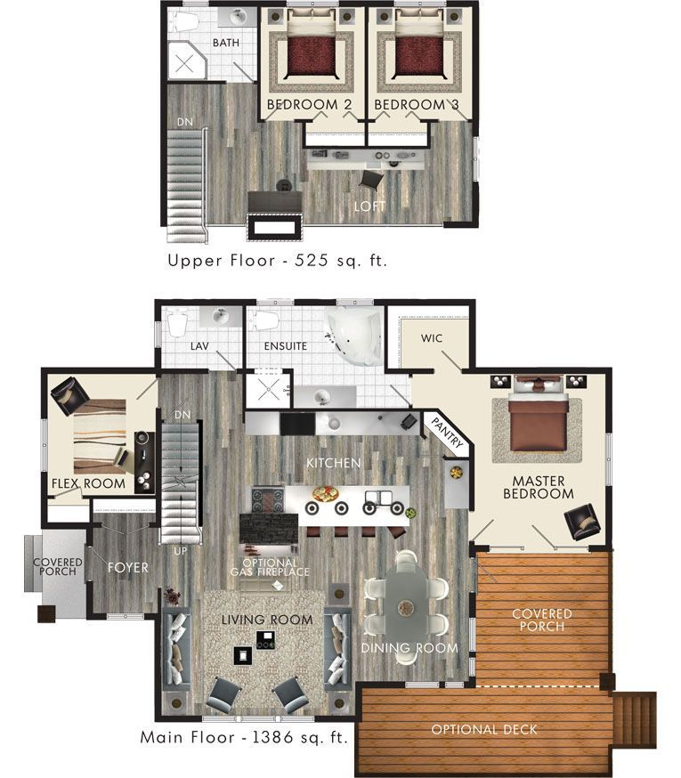 Kipawa Floor Plan Good Vacation House Plan For Like A Lake Bedrooms Are On The Small Side Might Need T In 2020 Small House Plans House Plan With Loft Loft Floor Plans