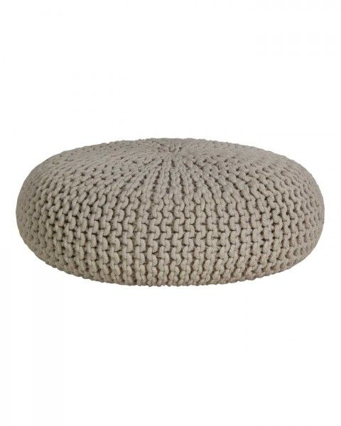 Natural Knitted Cotton Large Round Pouffe Footstool 70 X 23 Cm Pouffe Large Floor Cushions Floor Seating