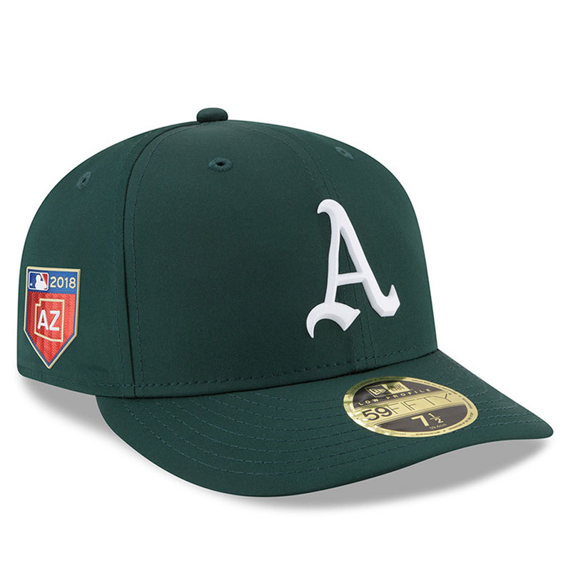 best authentic 689f5 476d3 Oakland Athletics New Era 2018 Spring Training Collection Prolight Low  Profile 59FIFTY Fitted Hat – Green