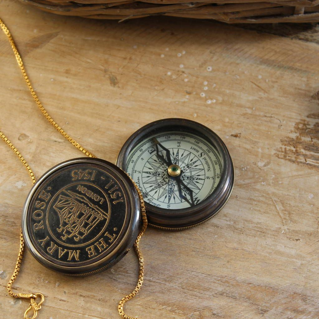 Vintage Look Replica Brass Compass In 2020 Compass Vintage Vintage Brass
