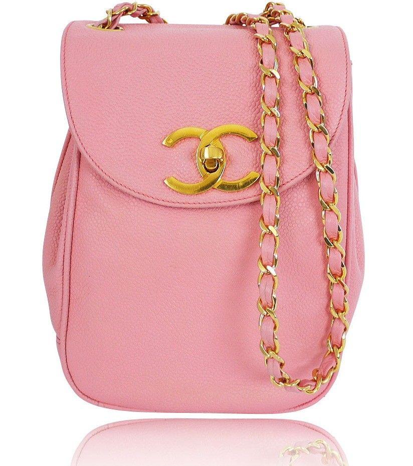 27c195e36d1e47 Chanel Vintage Pink Caviar Cross Body Pochette Shoulder Bag | Purses ...