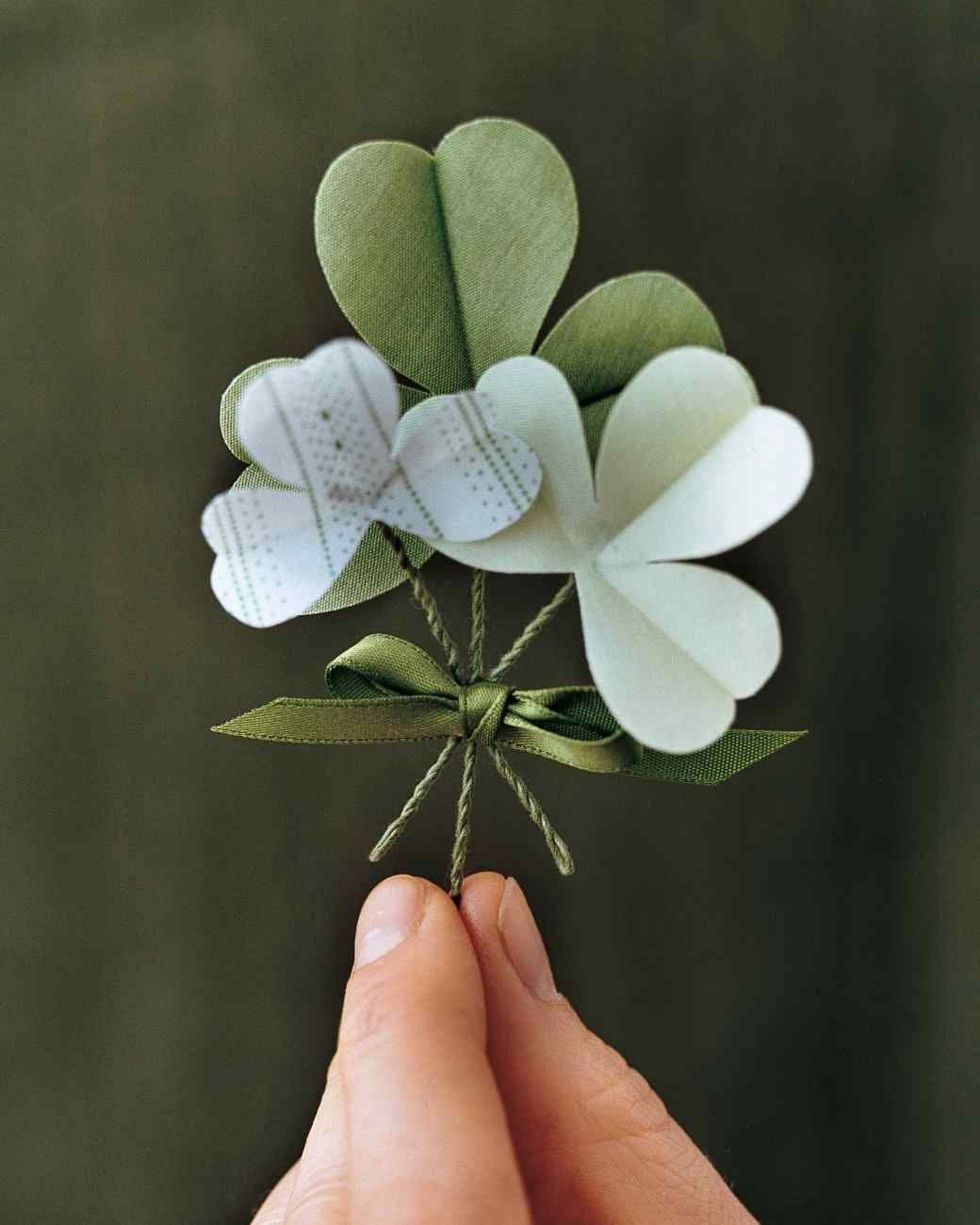 Uncategorized Legend Of The Shamrock shamrock boutonnieres martha stewart and craft saint patrick would have approved of these little green accessories according to popular legend