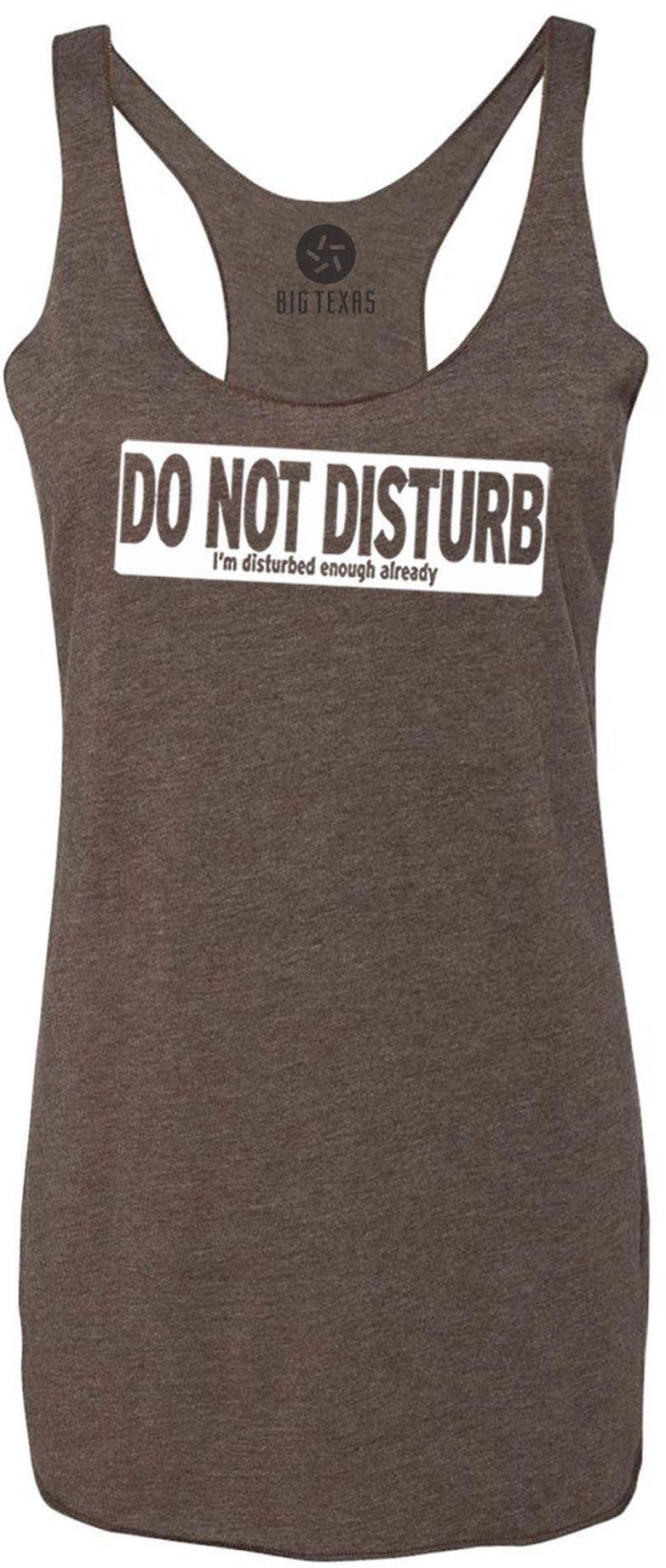 Do Not Disturb (White) TriBlend Racerback TankTop