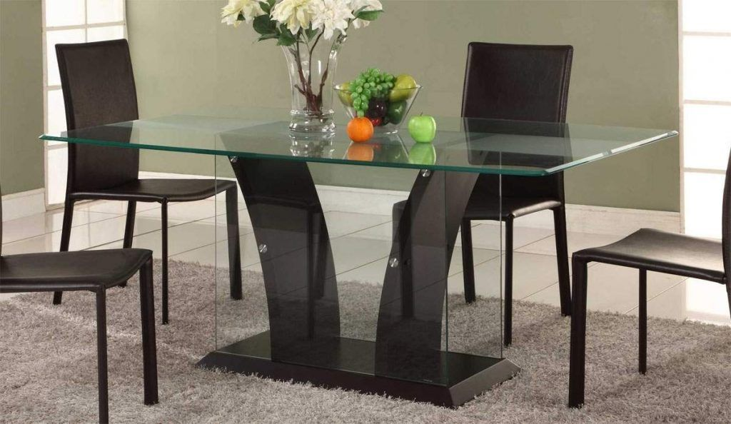 Modern Glass Dining Table Choosing The Type Of Modern Glass Dining Table That Suitable Glass Dining Room Table Modern Dining Room Set Dining Room Decor Modern