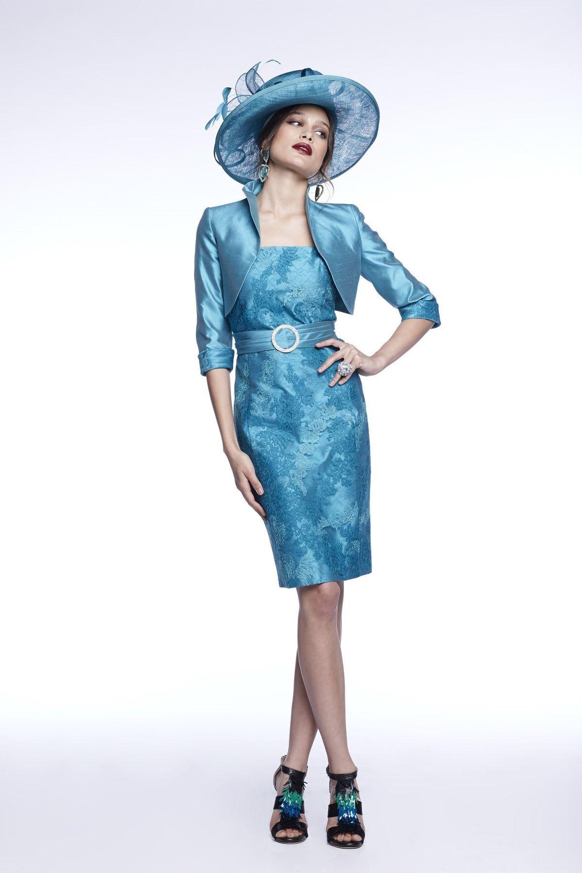50% Off... Luis Civit, Bolero & Dress X62.S.794, colour 210 Aqua ...