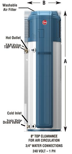 Rheem Hybrid Electric Heat Pump Water Heater Heat Pump Water