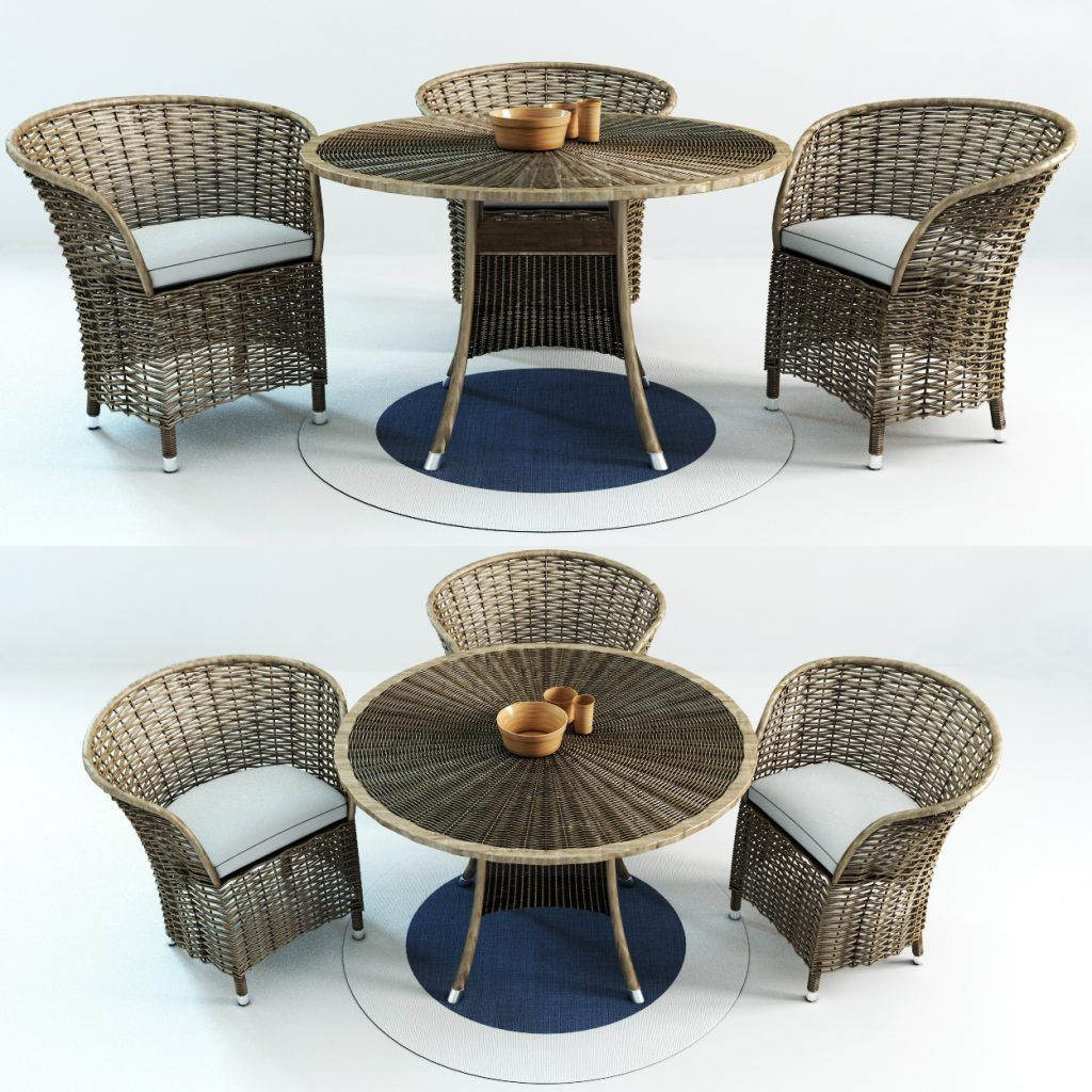12D Patio Wicker Table And Chair Free Download  Wicker table and