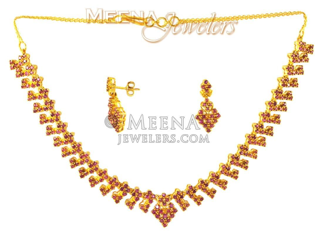 K fancy gold ruby set ruby necklaces pinterest gold