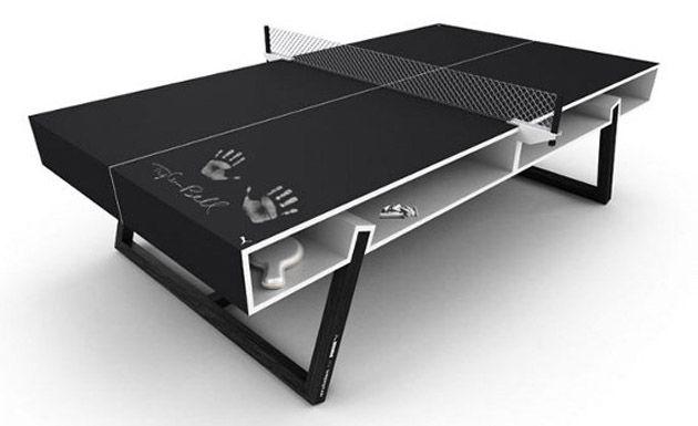 Una Genialidad Habitaciones Negras Mesa De Ping Pong Mesas De Ping Pong
