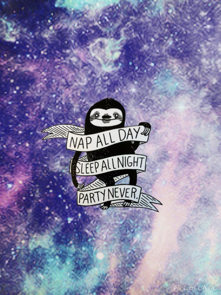 My anthem! NAP ALL DAY, SLEEP ALL NIGHT, PARTY NEVER #slothlife