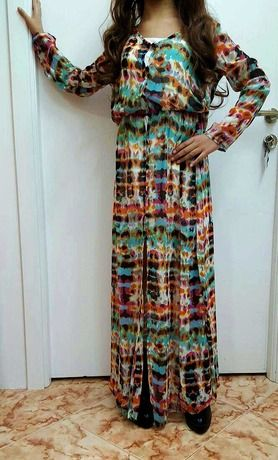 Design And Colour Patterns Cardign Dress -SheIn(Sheinside) Mobile Site