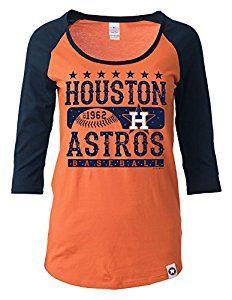the latest ed1dd cc7cb Amazon.com : MLB Houston Astros Women's 3/4 Sleeve Scoop ...