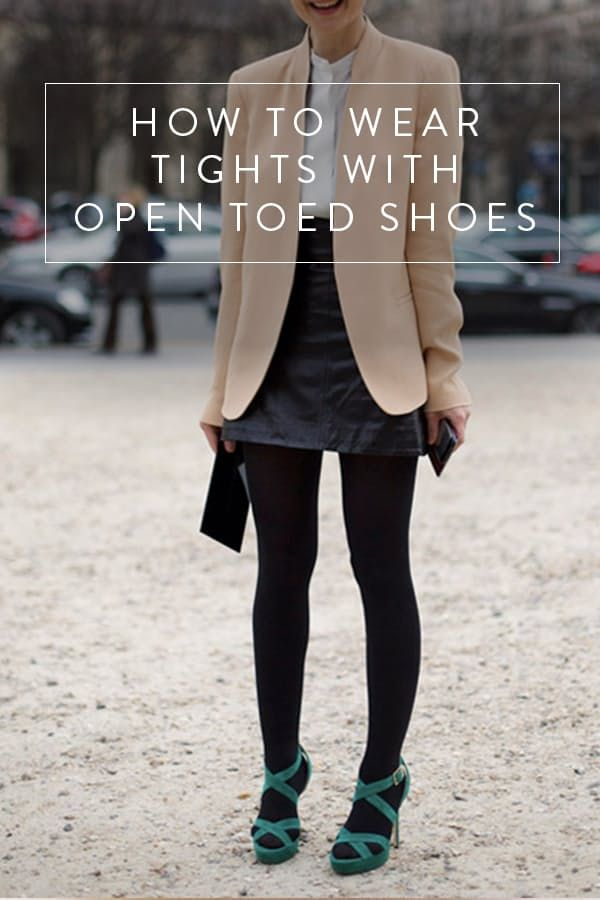 0e7df7f315b Can I Wear Tights with Open-Toed Shoes  via  PureWow