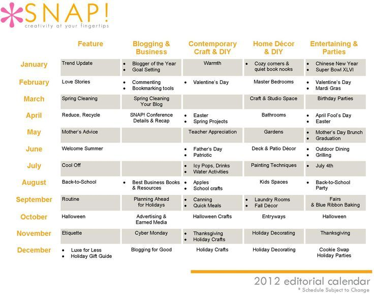 cool How to Create an Editorial Calendar - SNAP! Email Bulk tips + - create a picture calender