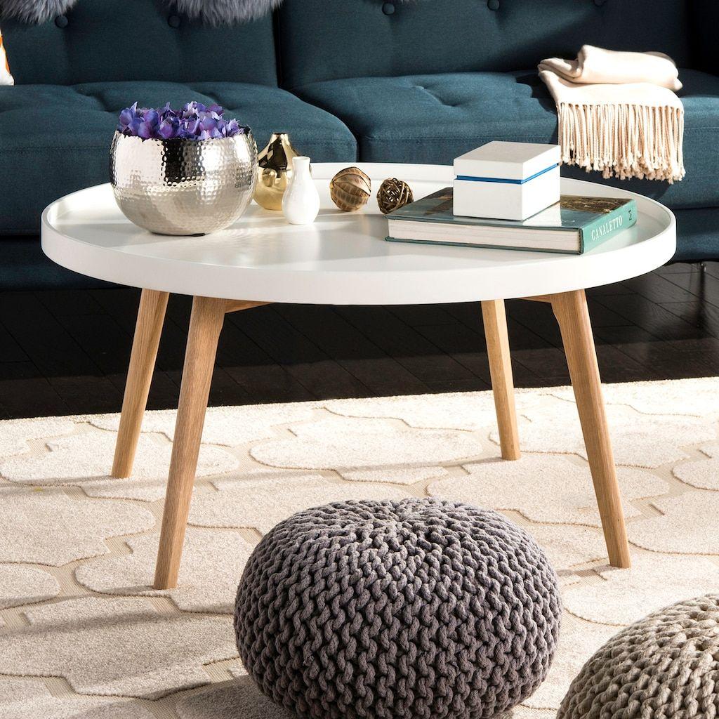 - Safavieh Sage Tray Top Round Coffee Table Couchtisch, Tisch, Couch