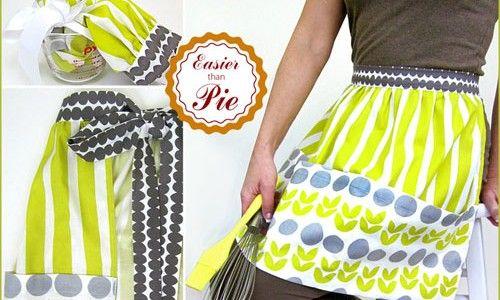 Apron with Jumbo Pockets – Free Sewing Pattern