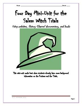 The Salem Witch Trials with Primary & Secondary Sources ...