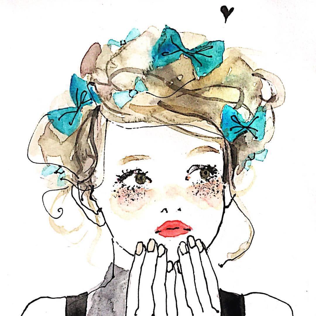 目の周りキラキラがマイブーム イラスト Illustration Japanese
