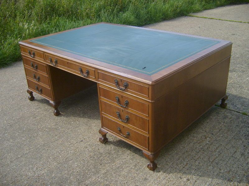 Original Victorian 6ft Partners Desk - Mid Victorian 6ft By 4ft Mahogany  Fitted Partners Estate Desk With Leather Inset Top | Antique Furniture |  Pinterest ... - Original Victorian 6ft Partners Desk - Mid Victorian 6ft By 4ft