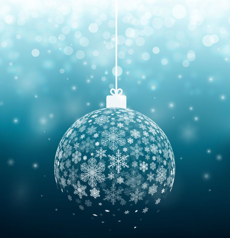 Blue Christmas Ball Ornaments Uk: Blue Snow Ball Background Vector Material