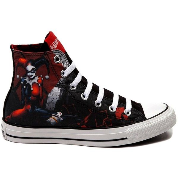 b1d63bd5d6cc Converse All Star Harley Quinn fashion Sneaker athletic walking shoes... ❤  liked on Polyvore