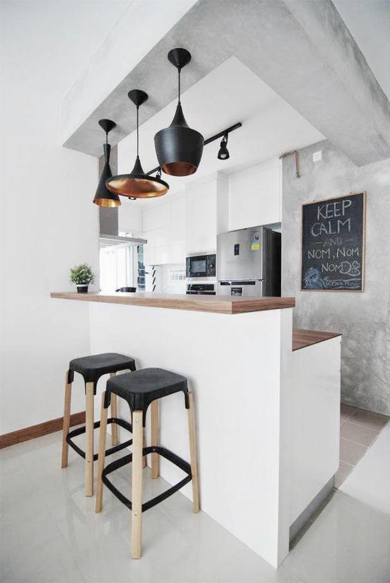 Un bar dans la cuisine idees decoration cuisine ouverte comptoir cuisine ouverte et bar cuisine - Bar dans cuisine ...