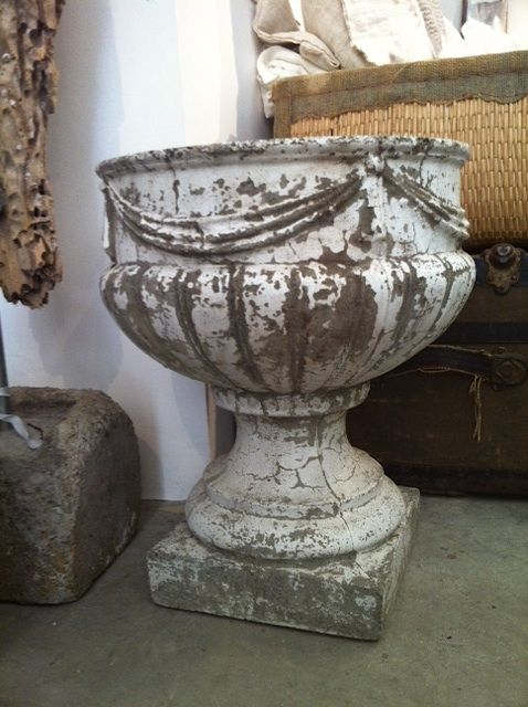 driftwood, rafia & the patina of antique garden urns photo heather Ross  { natural eclectic }
