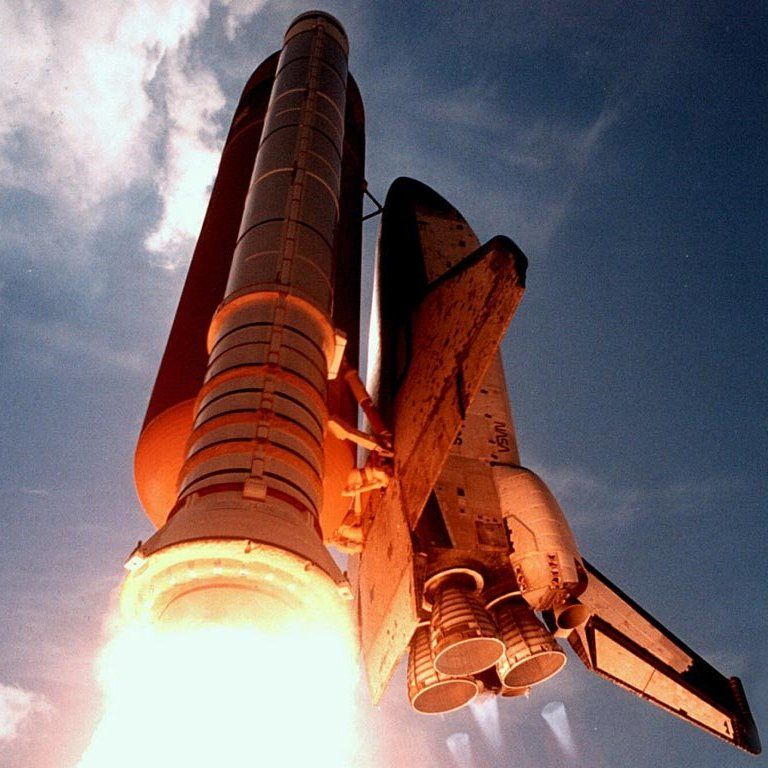 Space Shuttle - LOVE the shot of the solid rocket motors