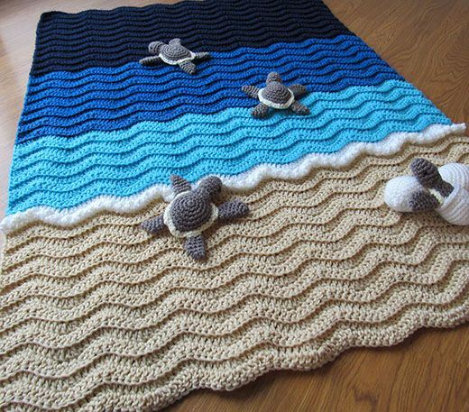 Turtle Beach Baby Blanket Free Crochet Pattern
