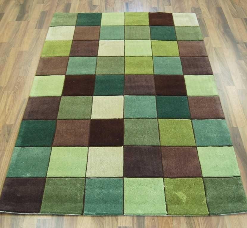 Pixel Green Brown Rugs Modern