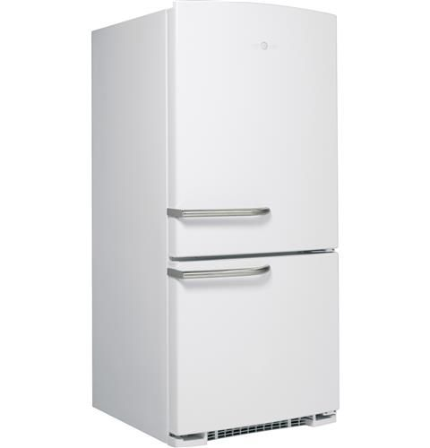Ge Artistry Series 20 3 Cu Ft Bottom Freezer Refrigerator Abe20egews Bottom Freezer Bottom Freezer Refrigerator Vintage Fridge