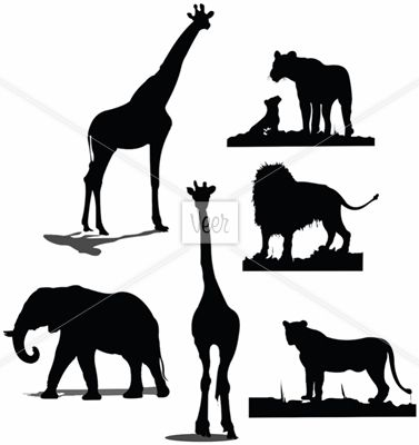 Animal Silhouettes African Animal Silhouette Animal Silhouette Animal Silhouettes