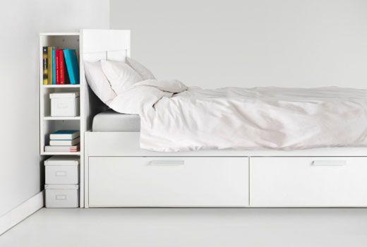 Tête de lit design et de rangement  Chambre  Pinterest