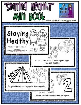 Staying healthy mini book pinterest this mini book is an easy reader to teach about healthy habits dental health solutioingenieria Image collections