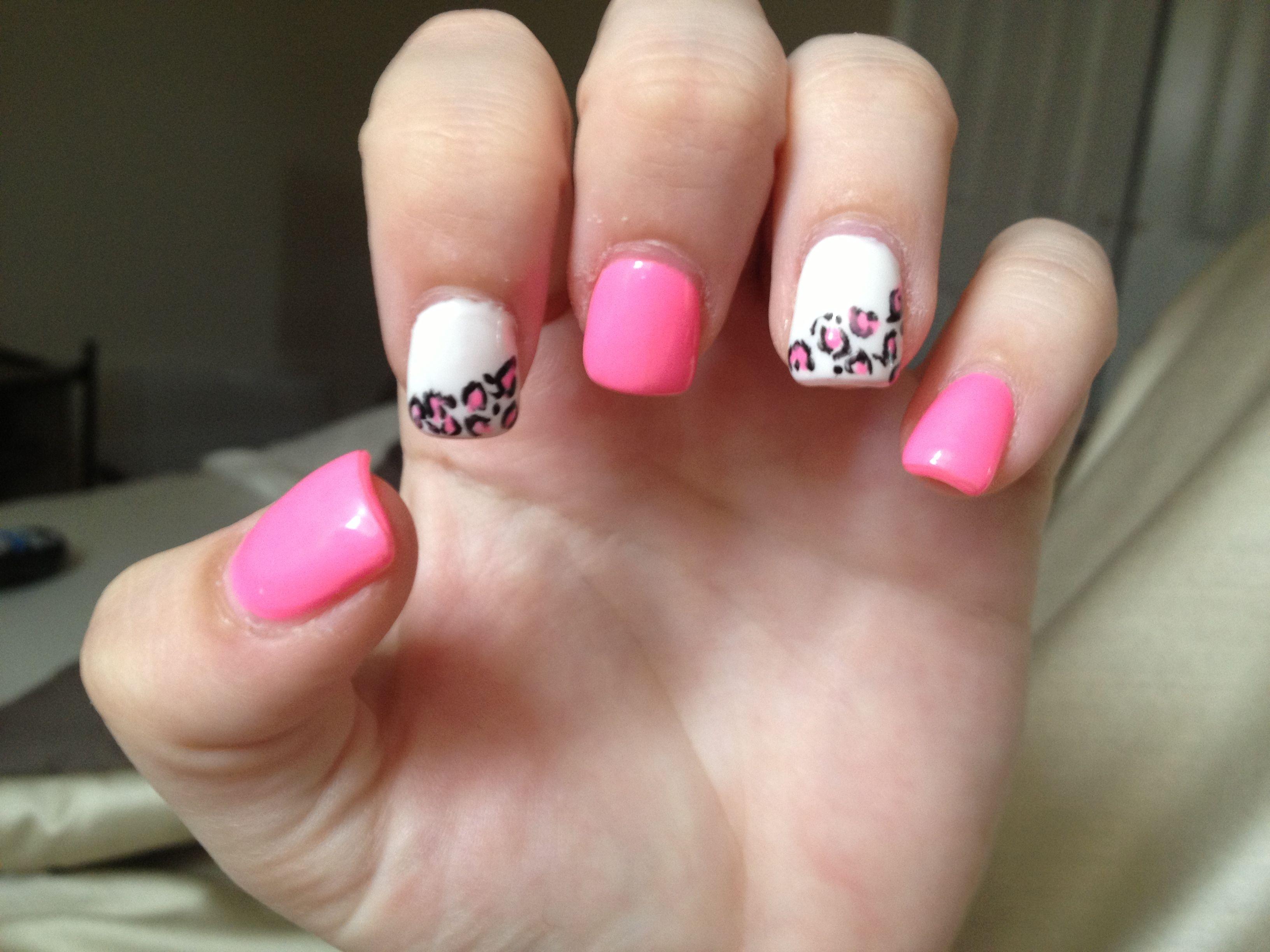 leopard print nails   Leopard print nails
