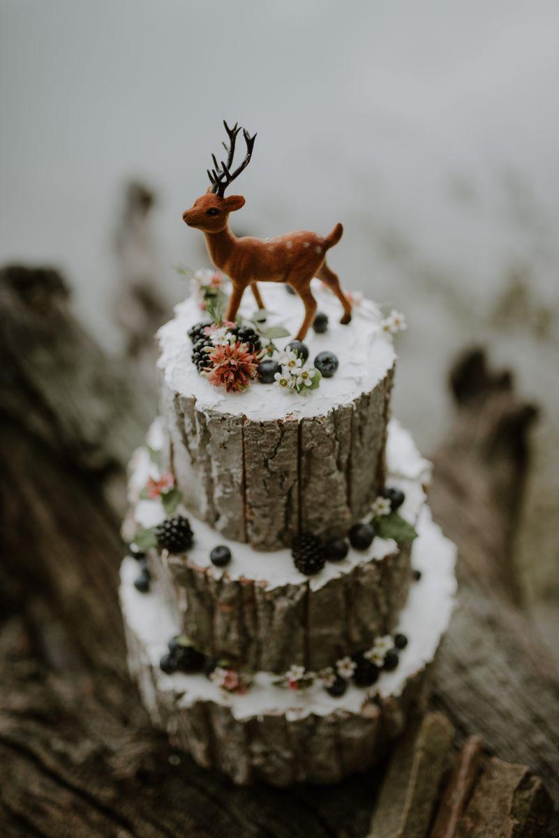 winter wedding cakes - photo by BOTTEGA53 http://ruffledblog.com/intimate-private-island-elopement-inspiration