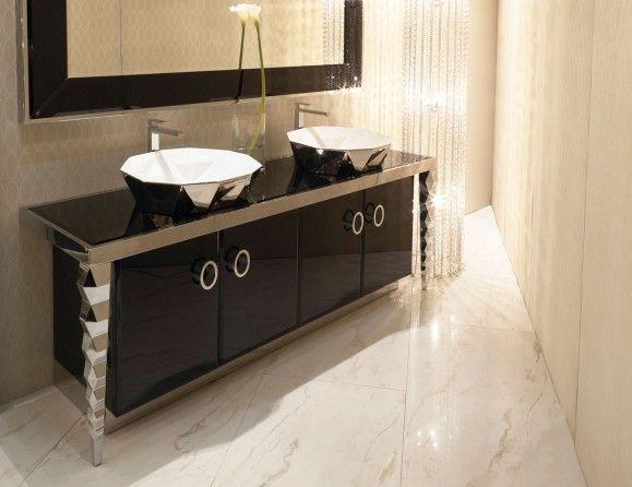 Visionnaire Portorose Luxury Italian Vanity In Stainless Steel Stainless Steel Bathroom Vanity Vanity Design Luxury Bathroom Vanities