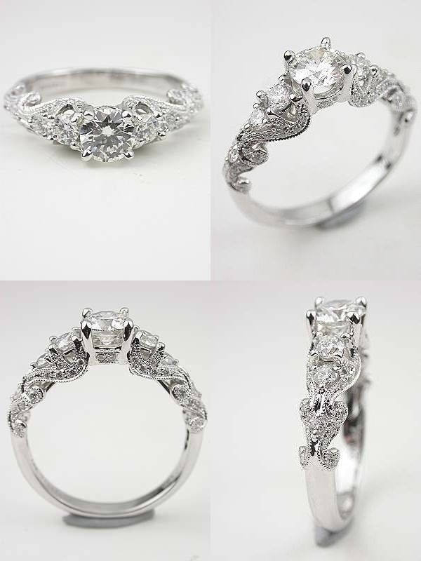 timeless antique style engagement rings from