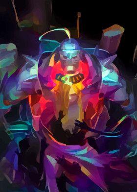 Neon armor | Displate thumbnail