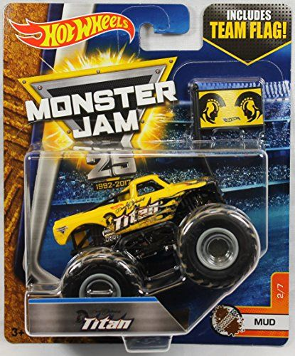 Hot Wheels Monster Jam 1:64 Scale Truck With Team Flag