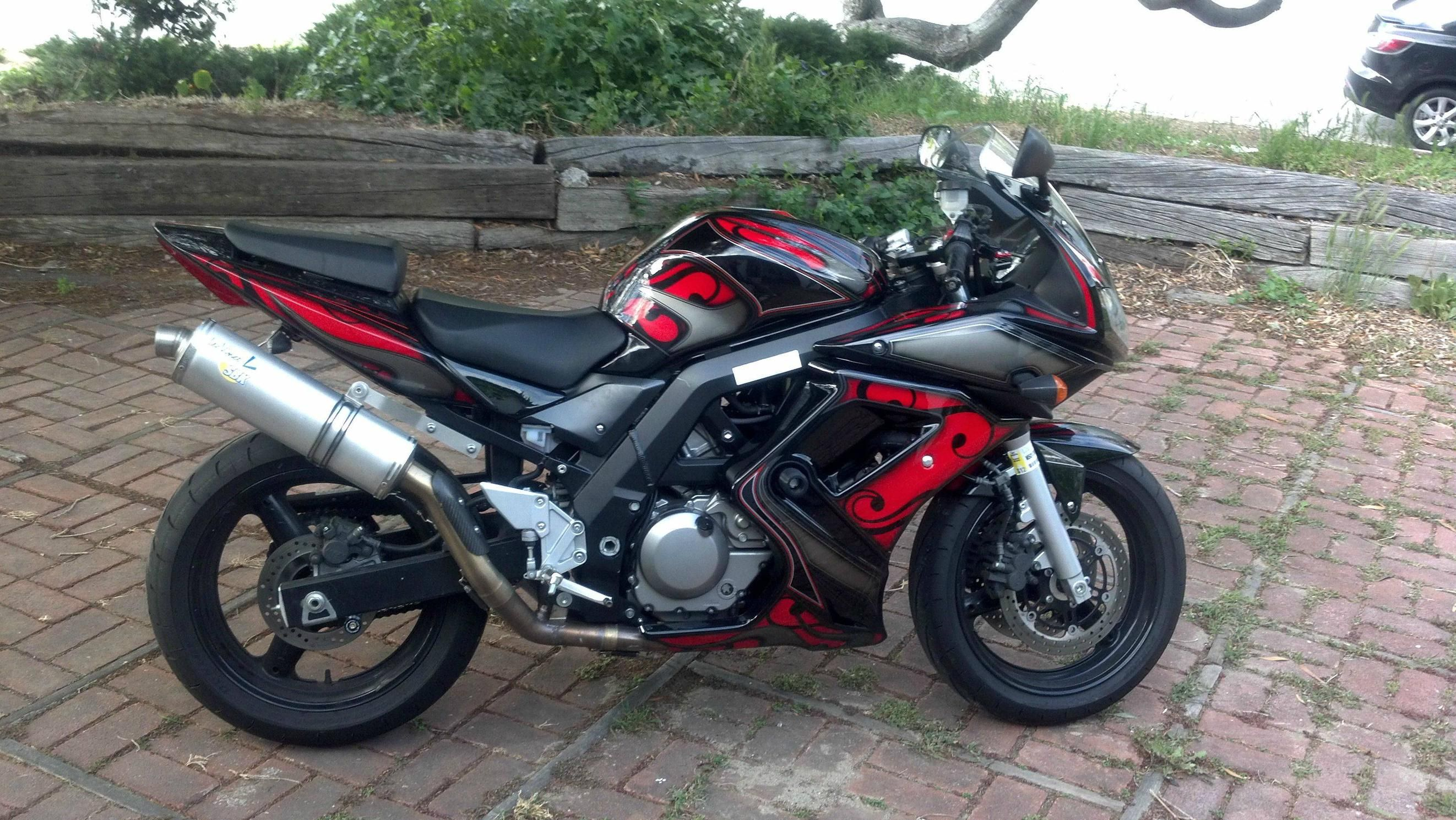 2006 SV650/S Red/black/silver (Professional, Custom Paint) - BARF ...