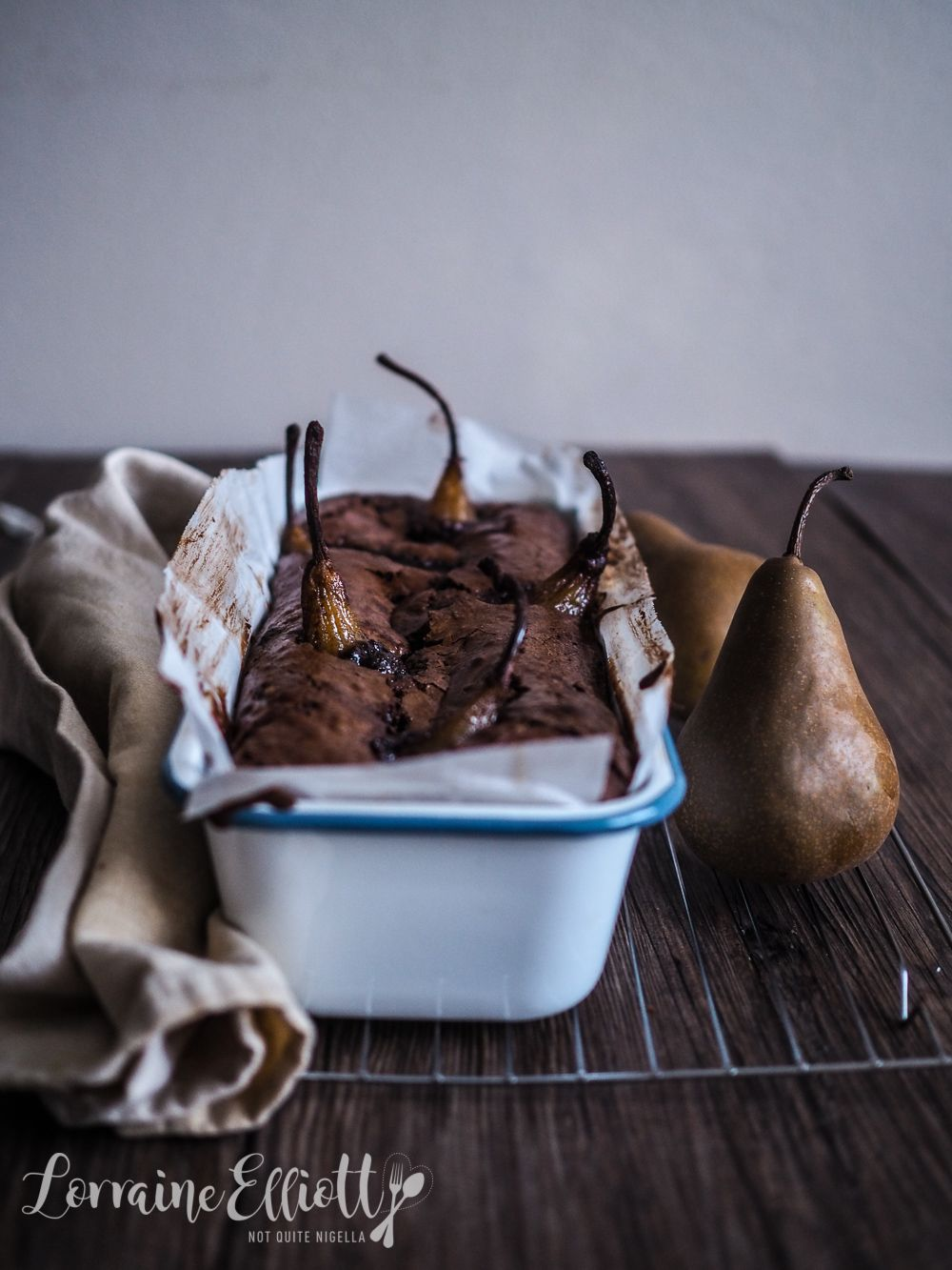Whole Spiced Pear & Chocolate Loaf Cake (Gluten Free